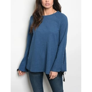 JED Women's Bell Sleeve Sweater Tunic Top|https://ak1.ostkcdn.com/images/products/18091533/P24249995.jpg?impolicy=medium