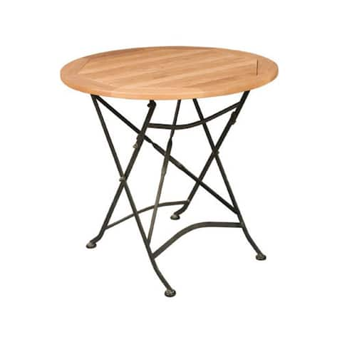 Bistro Outdoor Round Teak Table