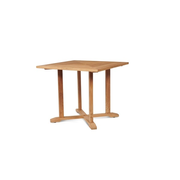 Shop Avery Outdoor Square Teak Dining Table Free Shipping Today