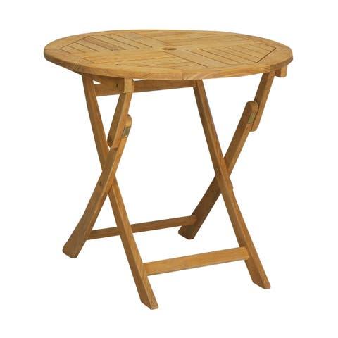 Valencia Outdoor Round Teak Folding Table