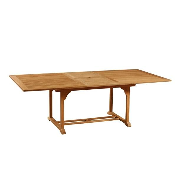 Dalton Outdoor Teak Extending Dining Table
