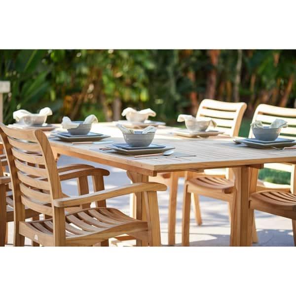 Dalton Outdoor Teak Extending Dining Table Free