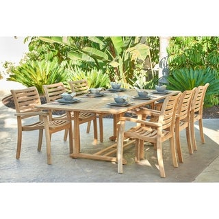 Dalton Outdoor Teak Extending Dining Table