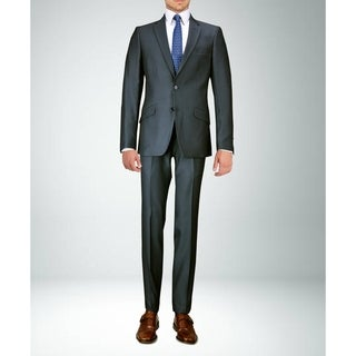 Carlo Studio Grey Sharkskin Slim-Fit Suit