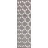 """Porch & Den Marigny Spain Trellis Grey Runner Rug - 2' x 7'2"""""""