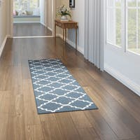 Porch & Den Park Circle Bethany Navy Runner Rug - 2' x 8'