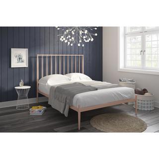DHP Giulia Pink Modern Metal Bed (Option: Gold)