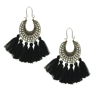 Eye Candy LA Half Moon Tassel Statement Earring