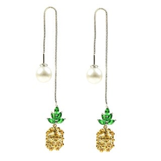 Eye Candy LA Pineapple Drop Fashion Earring