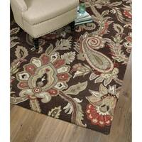 Hand-Tufted Christopher Chocolate Wool Rug - 12' x 15'