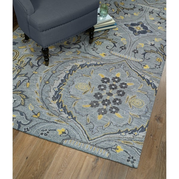Hand-Tufted Christopher Grey Wool Rug - 12' x 15'