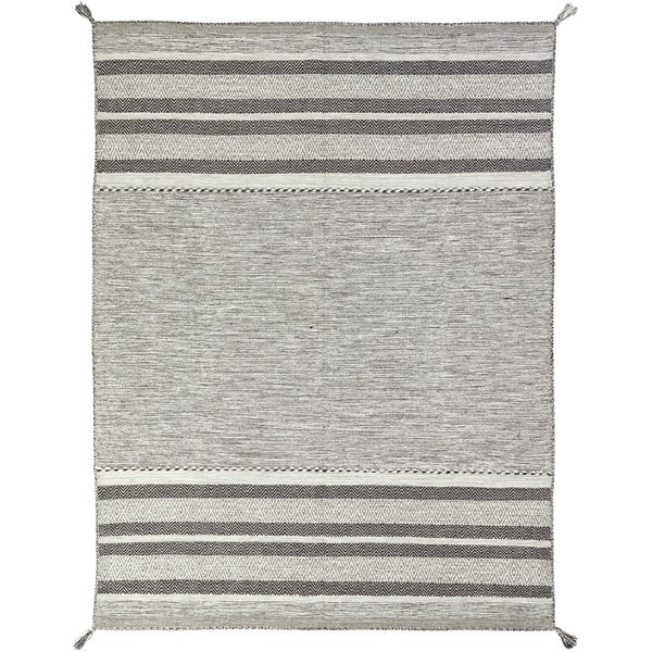 Andes Canyon Grey Cotton Chenille Granite Handmade Area Rug (8'6 x 11'6)