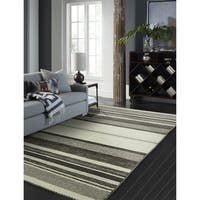 Andes Canyon Graphite Hand Made Area Rug (2' x 3') - 2' X 3'
