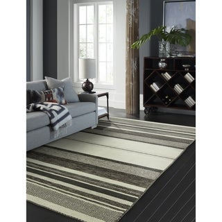 Andes Canyon Graphite Hand Made Area Rug - 2' x 3'