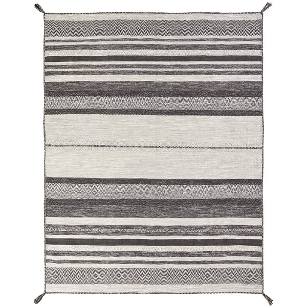 Andes Canyon Graphite Multi Handmade Area Rug (7'6 x 9'6)