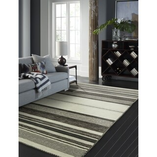 Andes Canyon Graphite Cotton Chenille Handmade Kilim Area Rug (8'6 x 11'6)|https://ak1.ostkcdn.com/images/products/18091934/P24250295.jpg?_ostk_perf_=percv&impolicy=medium