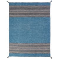 """Andes Desert Teal Cotton Chenille Handmade Area Rug - 9'6"""" x 13'"""