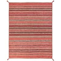 """Andes Santa Fe Rust Hand Made Area Rug (2'6"""" x 10') - 2'6"""" x 10'"""