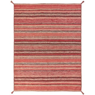 """Andes Santa Fe Rust Hand Made Area Rug (2'6"""" x 10') - 2'6 x 10'"""
