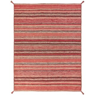 "Andes Santa Fe Handmade Rust Cotton Chenille Indoor Rectangular Area Rug (5'6 x 8'6) - 5'6"" x 8'6"""