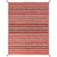 "Andes Santa Fe Handmade Rust Cotton Chenille Indoor Rectangular Area Rug - 5'6"" x 8'6"""
