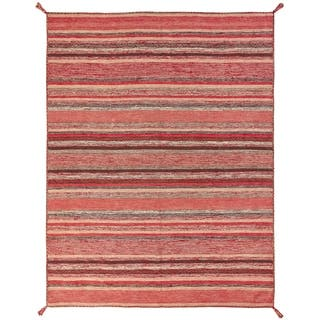 Andes Santa Fe Rust/Blue Cotton Handmade Area Rug (7'6 x 9'6)|https://ak1.ostkcdn.com/images/products/18091970/P24250318.jpg?impolicy=medium