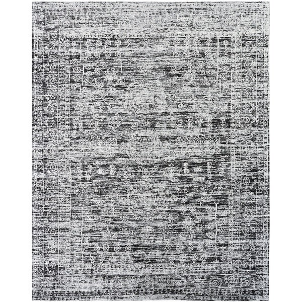 "Jardin Hazy Charcoal Cotton Chenille Handmade Area Rug (8'6 x 11'6) - 8'6"" x 11'6"""