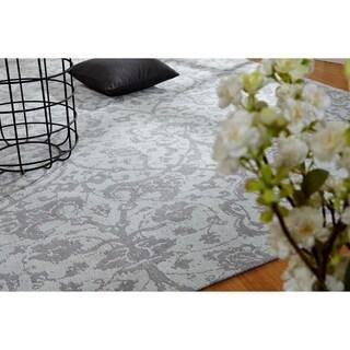 Jardin Hazy Platinum Hand Made Area Rug (2' x 3')