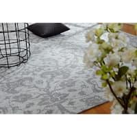 "Jardin Hazy Platinum Cotton Chenille Handmade Area Rug (8'6 x 11'6) - 8'6"" x 11'6"""