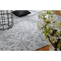 "Jardin Hazy Platinum Silver Cotton Chenille Handmade Area Rug - 9'6"" x 13'"