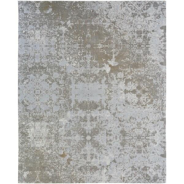 Jardin Sky Zinc Cotton Chenille Handmade Area Rug (7'6 x 9'6)