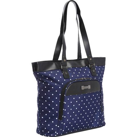 Kenneth Cole Reaction 'Dot Matrix' Polka Dot Printed Top Zip 15.6-inch Laptop Tote Bag