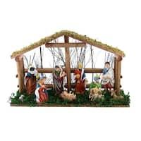 Large Nativity Set, Handmade From Wood