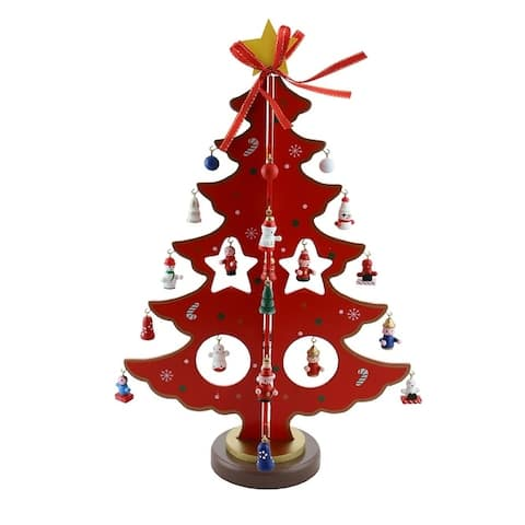 Decorated Christmas Tree With Little Ornaments