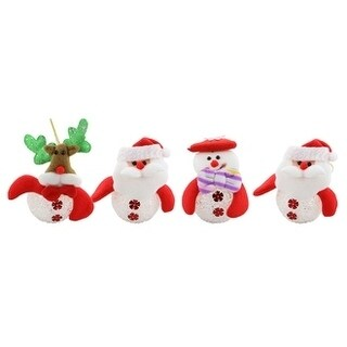 "Christmas Tree Light Up Ornament, Set Of 4 Pieces, 5"" Each"