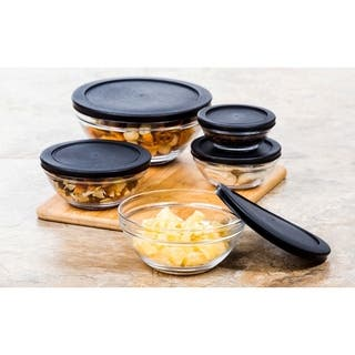 10 Pcs Glass Food Storage Containers Bowls Lunch Bowl Snap Tight Lid|https://ak1.ostkcdn.com/images/products/18092201/P24250566.jpg?impolicy=medium