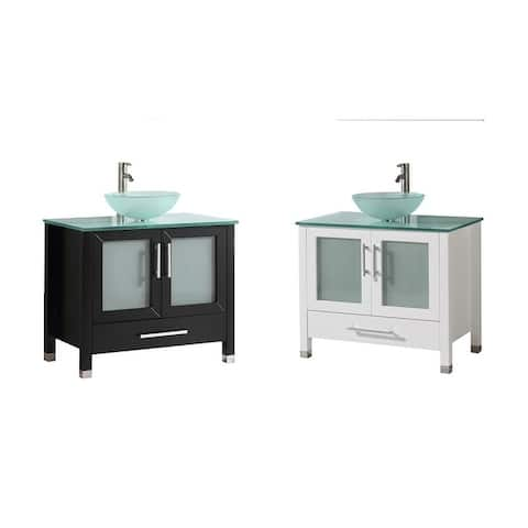 Caen 36-inch Single Sink Modern Bathroom Vanity