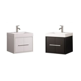Clermont 24-inch Single Sink Wall Mounted Modern Bathroom Vanity