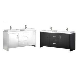 Bergamo II 60-inch Double Sink Modern Bathroom Vanity