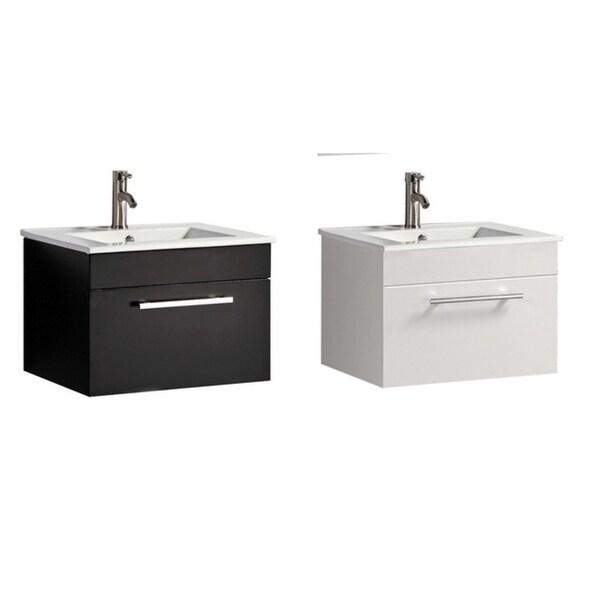Shop Nepal 24 Single Sink Wall Mounted Modern Bathroom Vanity