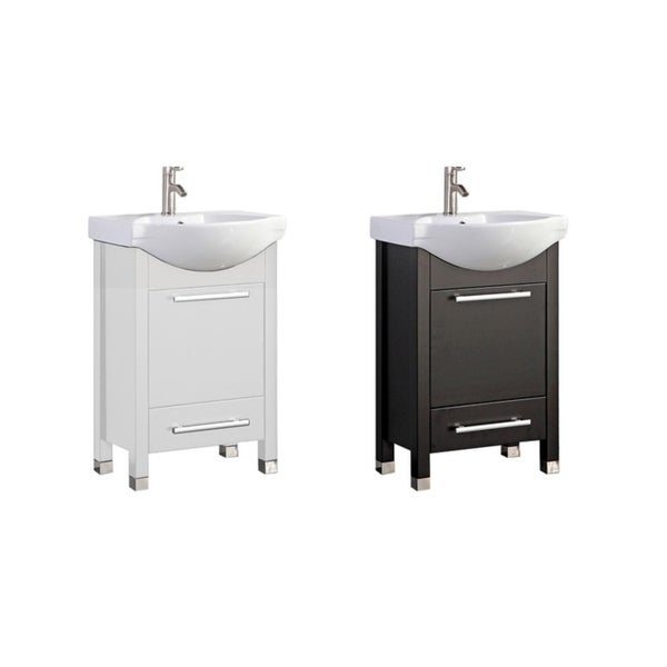 Pau 24-inch Single Sink Modern Bathroom Vanity
