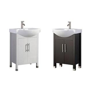 "Peru 20"" Single Sink Modern Bathroom Vanity, Espresso"