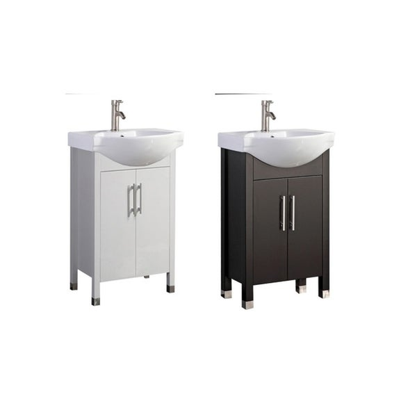 Shop Peru 20 Single Sink Modern Bathroom Vanity Espresso Free