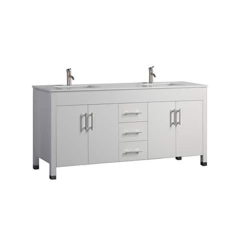 Moselle 63-inch Double Sink Modern Bathroom Vanity