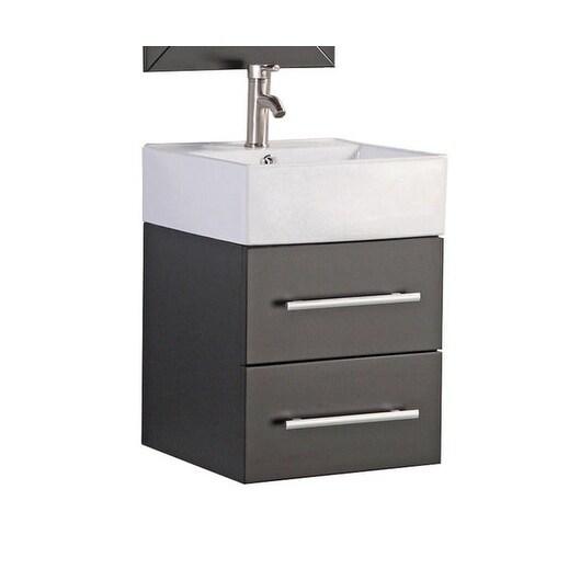 Shop Nepal 18 Single Sink Wall Mounted Modern Bathroom Vanity