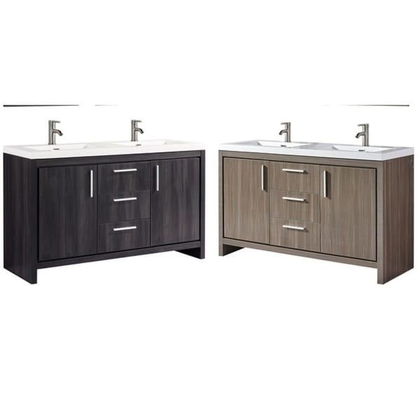 Shop Miami 48 Double Sink Modern Bathroom Vanity Black Walnut Inspiration Miami Contemporary Furniture Remodelling