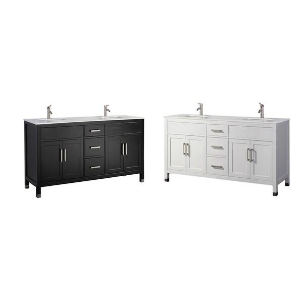 Reisa 84-inch Double Sink Modern Bathroom Vanity