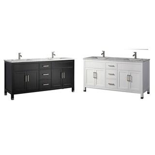 "Ricca 60"" Double Sink Modern Bathroom Vanity, Espresso"