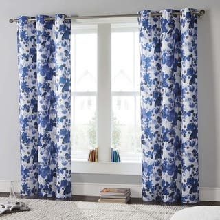 Lush Decor Floral Paisley Room Darkening 84 Inch Curtain