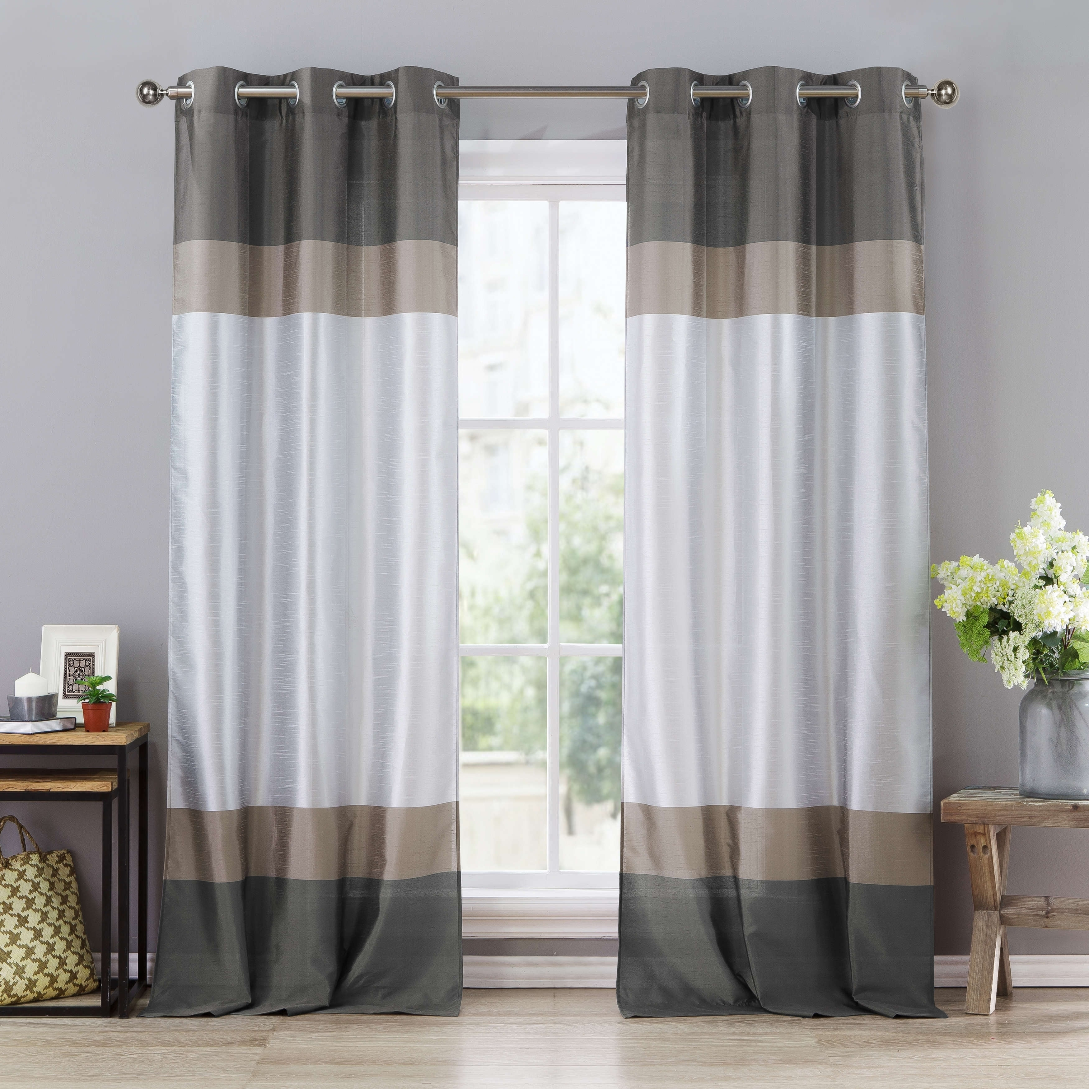 Duck River Theona Color Block Curtain Panel Pair  78X84